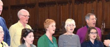 Elgar Chorale singing in Buckfast Abbey