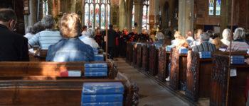 Elgar Chorale giving a concert at St Eustachius' Church, Tavistock