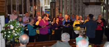 Elgar Chorale giving a concert at St Mary's Church, Totnes