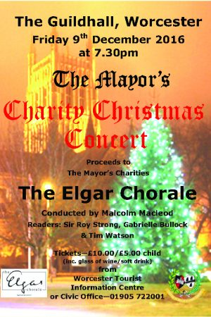 Elgar Chorale perform for the Mayor of Worcester's charities at the Worcester Guildhall on 9 Dec 2016
