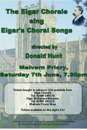 Poster for Elgar Chorale concert on 7th June 2014