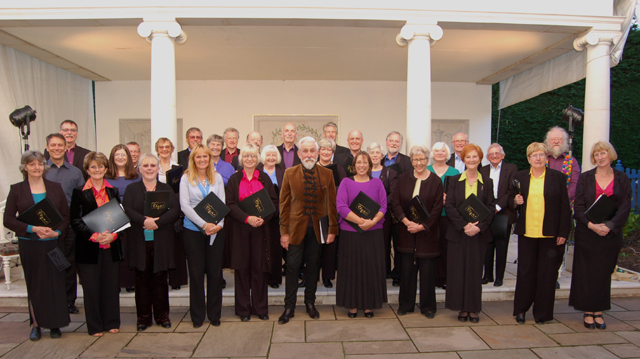 The Elgar Chorale at their concert at The Laskett Garden with Sir Roy Strong